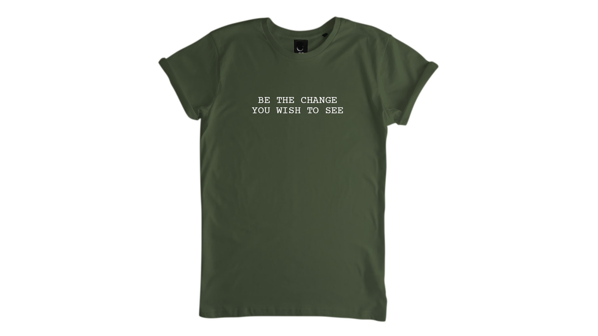 LiveLearn.Yoga Yoga T-Shirt Organic Cotton Be the Change You Wish to See Green