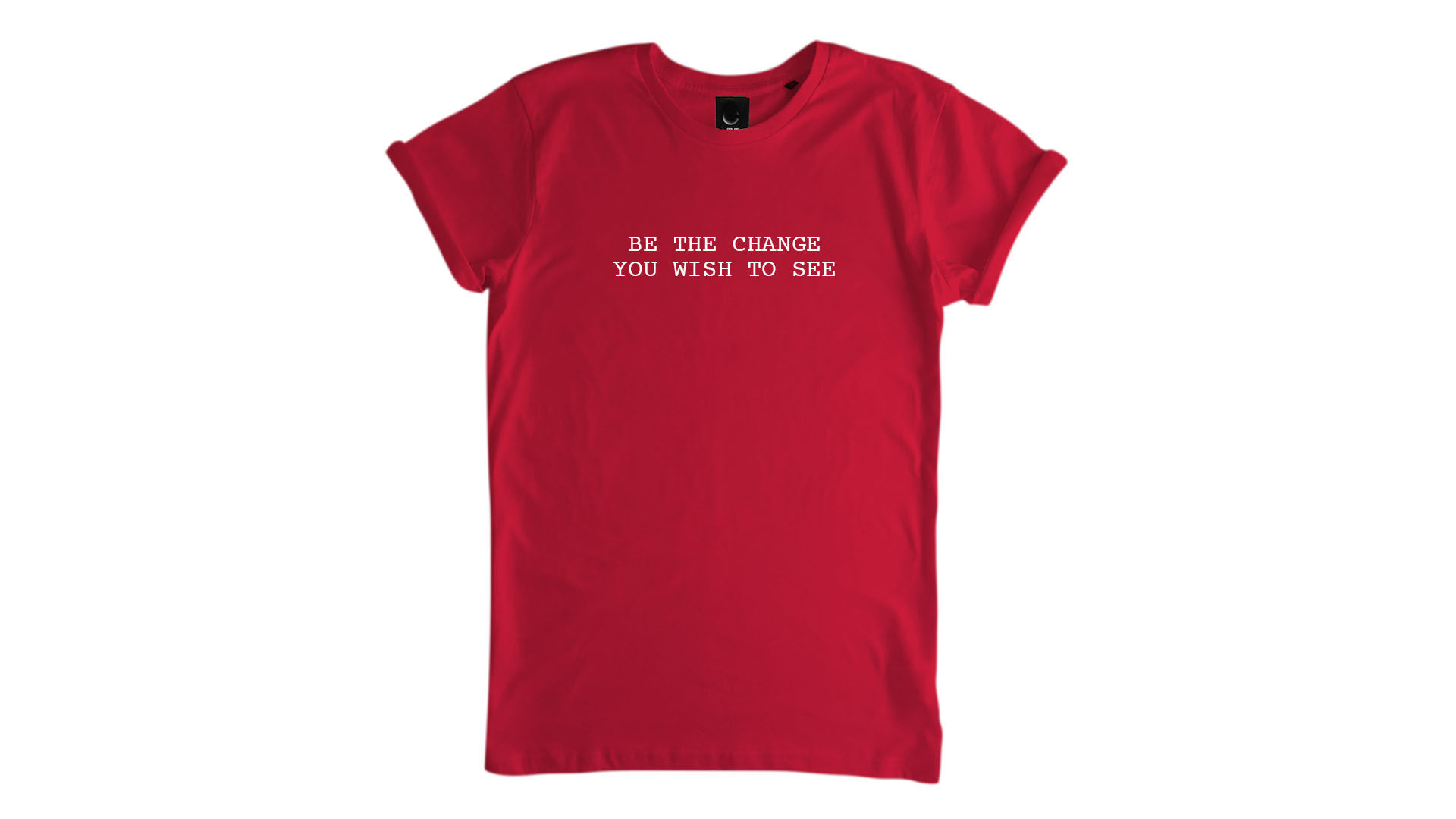 LiveLearn.Yoga Yoga T-Shirt Organic Cotton Be the Change You Wish to See Red