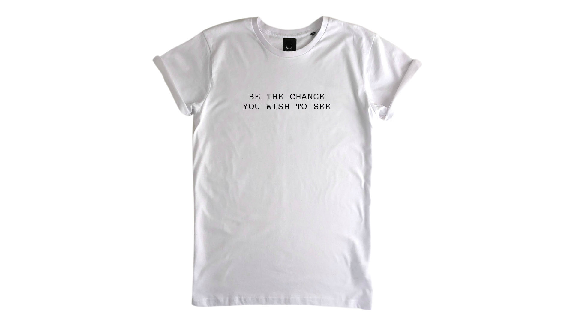 LiveLearn.Yoga Yoga T-Shirt Organic Cotton Be the Change You Wish to See White