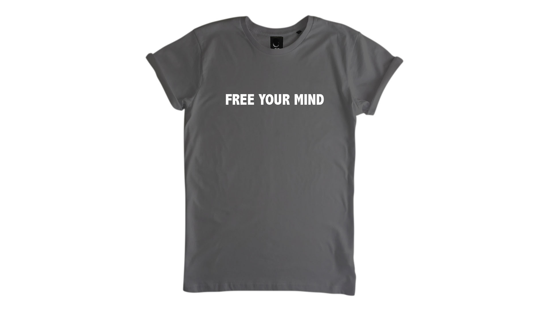 LiveLearn.Yoga Yoga T-Shirt Organic Cotton Free Your Mind Grey