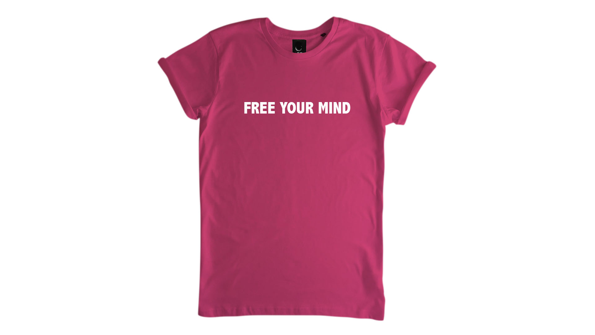 LiveLearn.Yoga Yoga T-Shirt Organic Cotton Free Your Mind Pink
