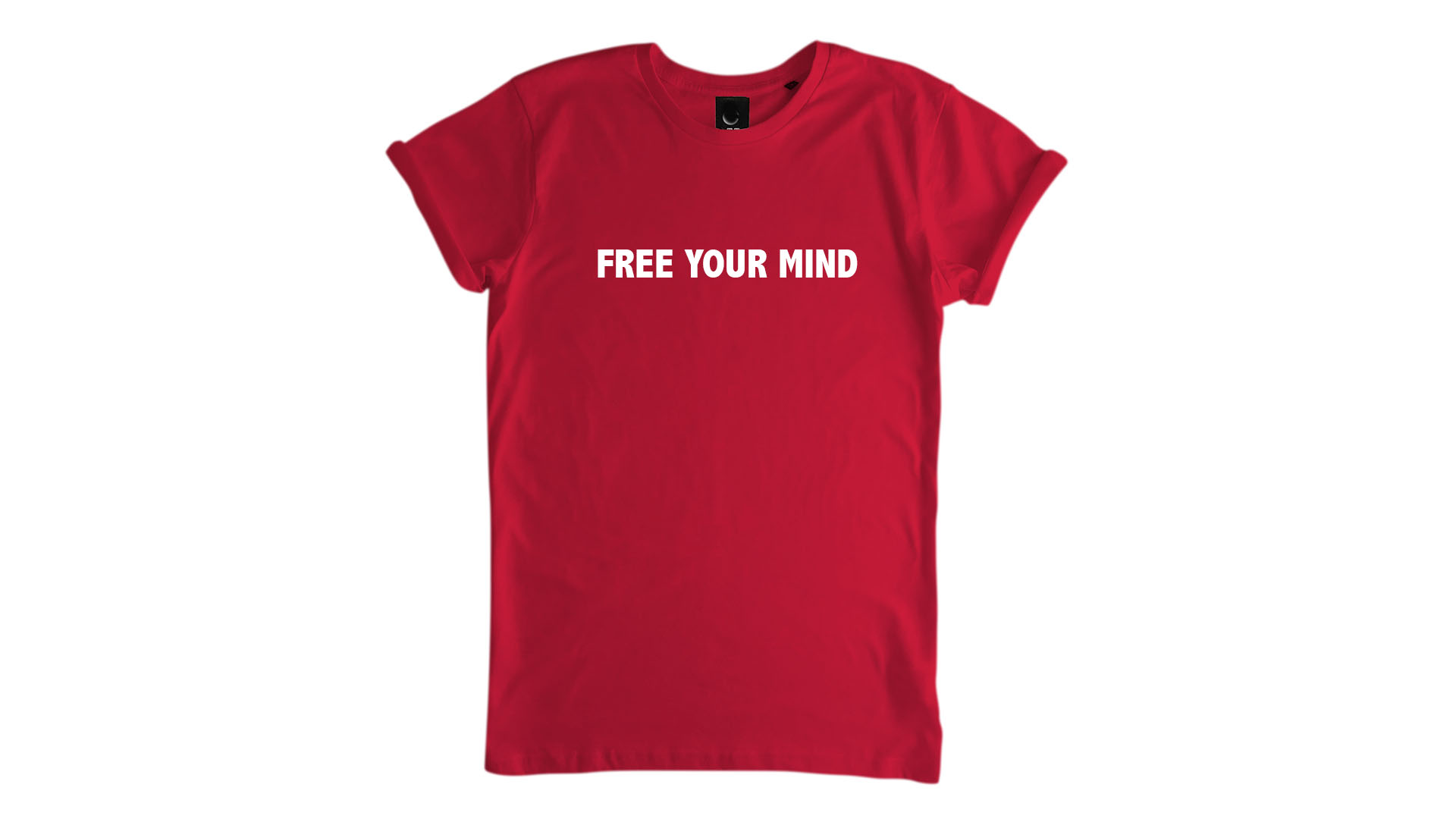 LiveLearn.Yoga Yoga T-Shirt Organic Cotton Free Your Mind Red