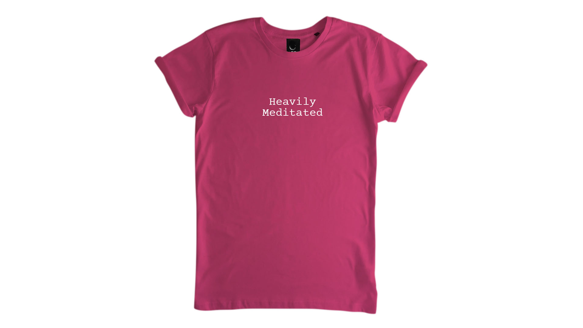 LiveLearn.Yoga Yoga T-Shirt Organic Cotton Heavily Meditated Pink