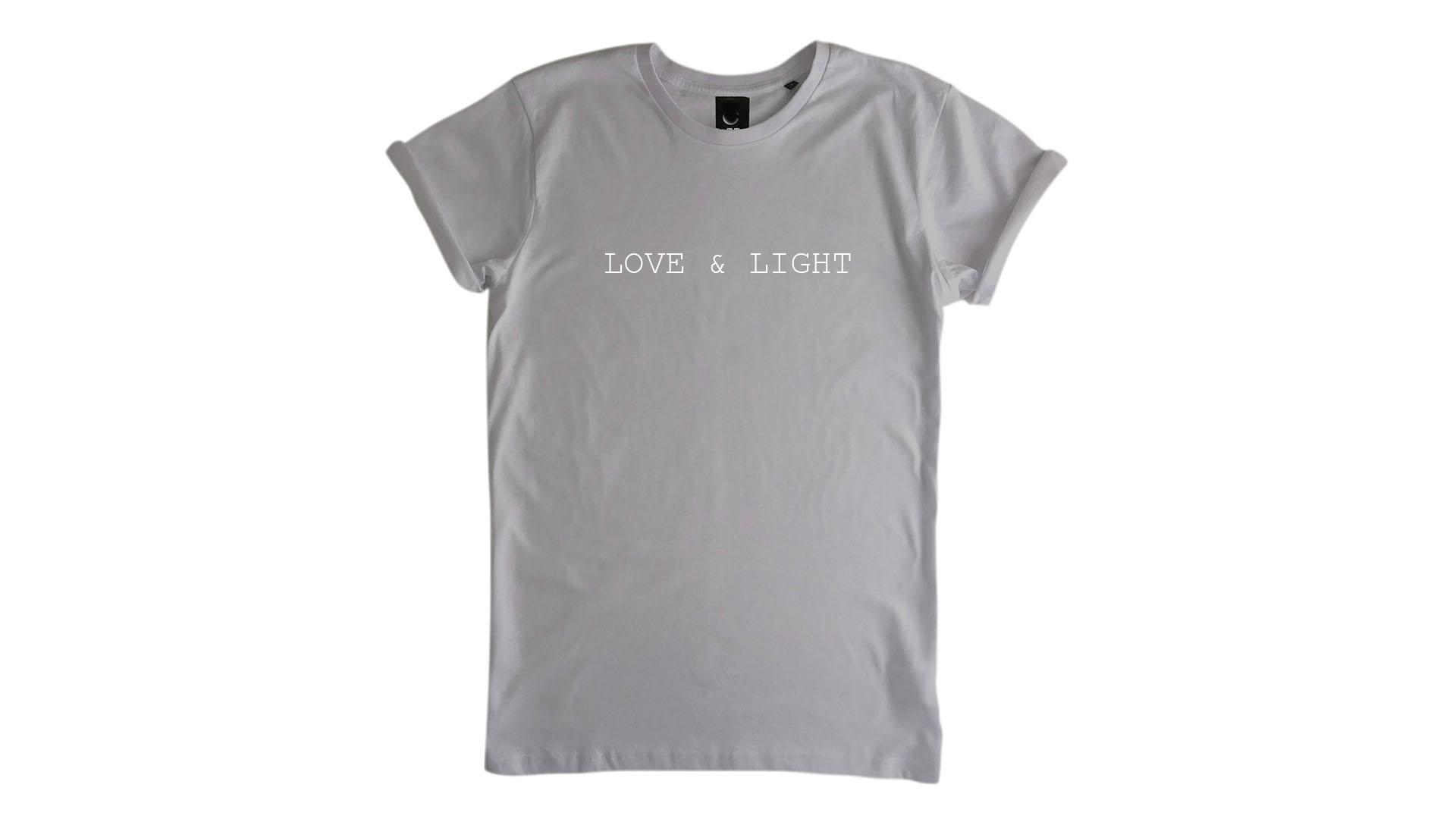 LiveLearn.Yoga Yoga T-Shirt Organic Cotton Love & Light Light Grey