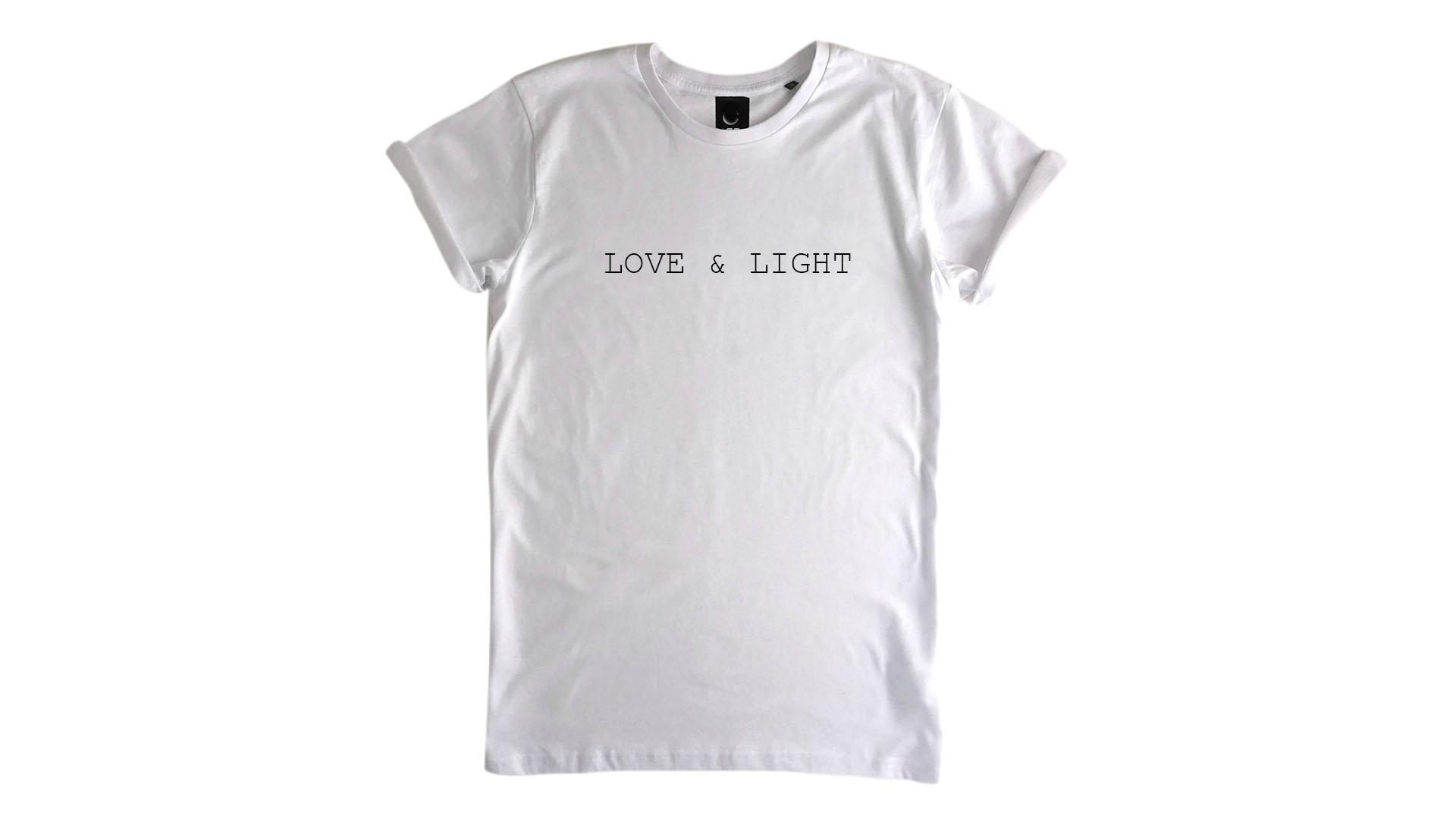 LiveLearn.Yoga Yoga T-Shirt Organic Cotton Love & Light White