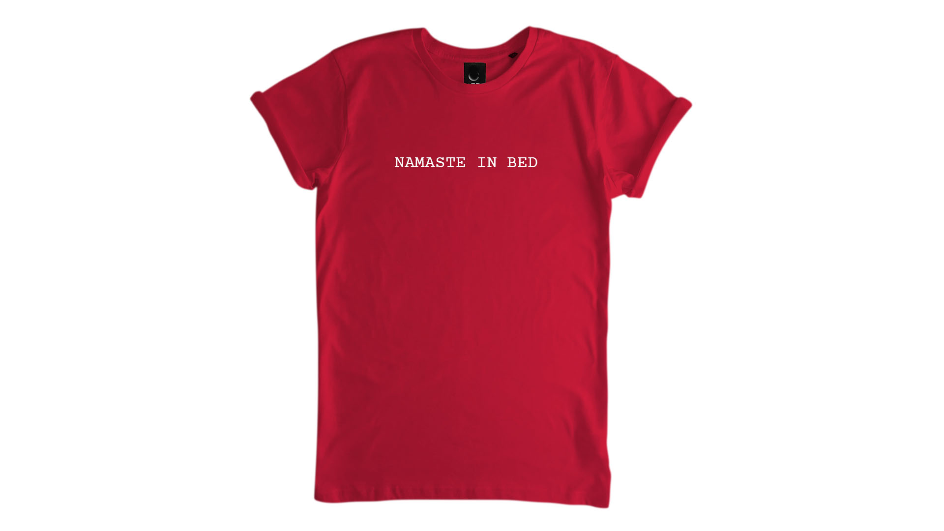 LiveLearn.Yoga Yoga T-Shirt Organic Cotton Namaste In Bed Red