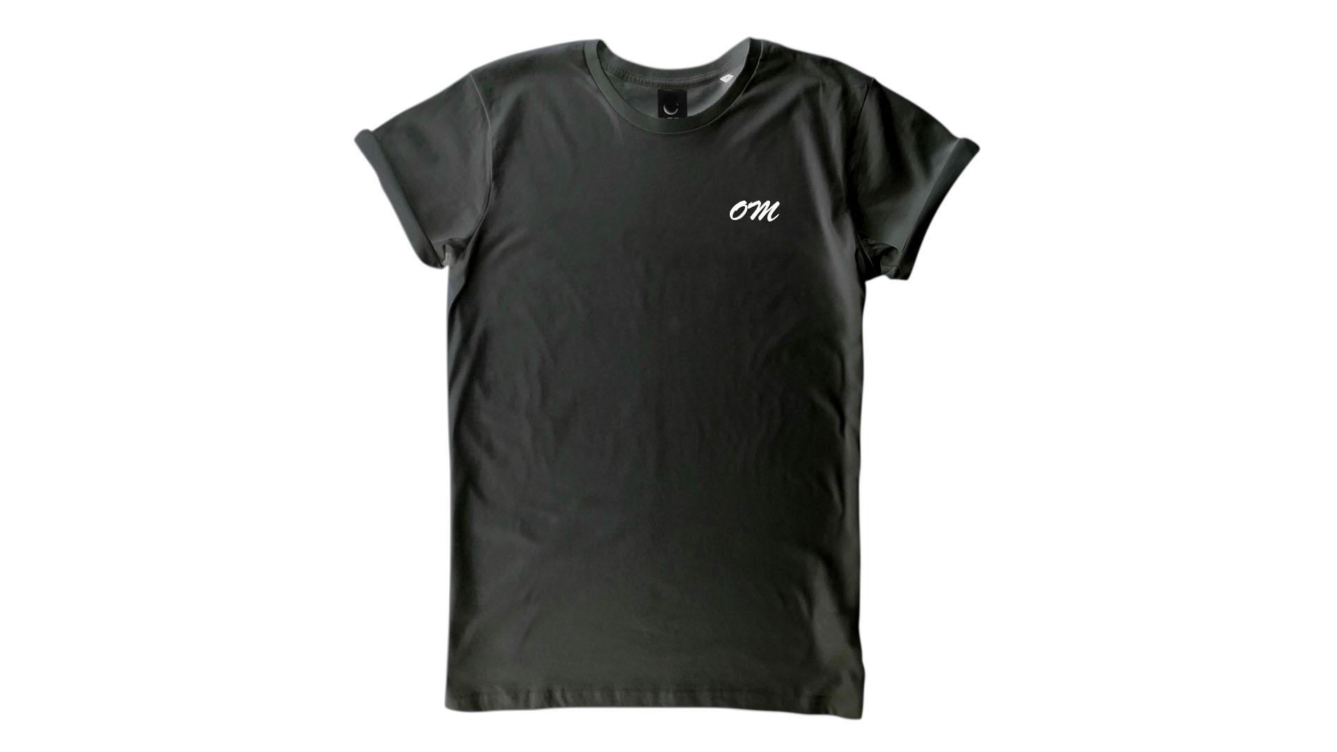 LiveLearn.Yoga Yoga T-Shirt Organic Cotton Om Black